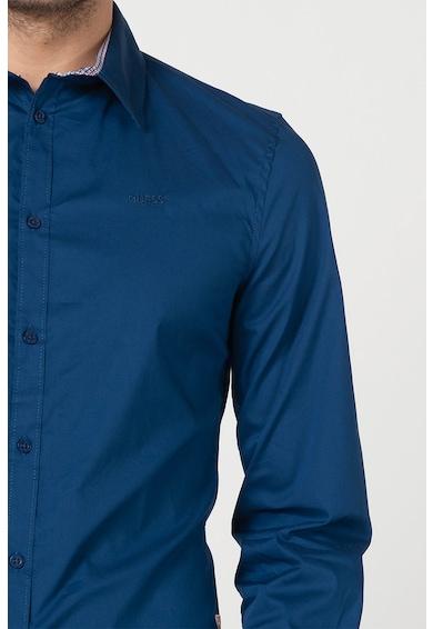 GUESS JEANS Риза с малки бродерии Мъже