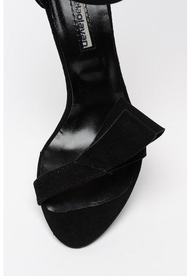 Mihaela Glavan Sandale stiletto de piele ecologica intoarsa cu funda destructurata Femei
