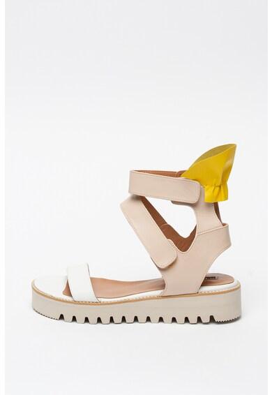 Mihaela Glavan Sandale high-top de piele cu velcro Femei