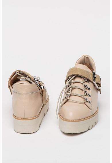 Mihaela Glavan Pantofi de piele cu talpa wedge cu striatii Femei
