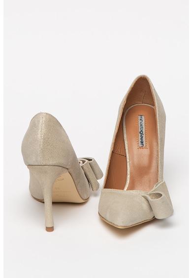 Mihaela Glavan Pantofi de piele nabuc cu toc inalt Femei