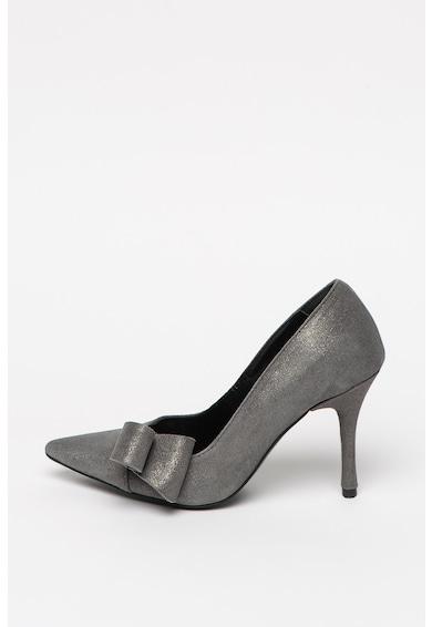 Mihaela Glavan Pantofi stiletto cu varf ascutit si aspect stralucitor Femei