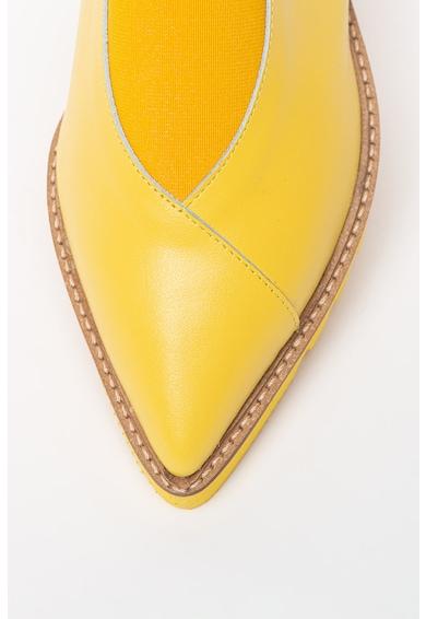 Mihaela Glavan Pantofi slingback de piele cu varf ascutit Femei