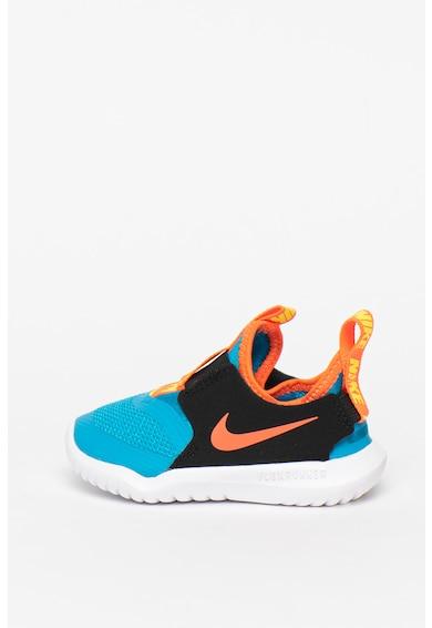 Nike Pantofi sport slip-on cu insertii din piele Flex Runner Fete