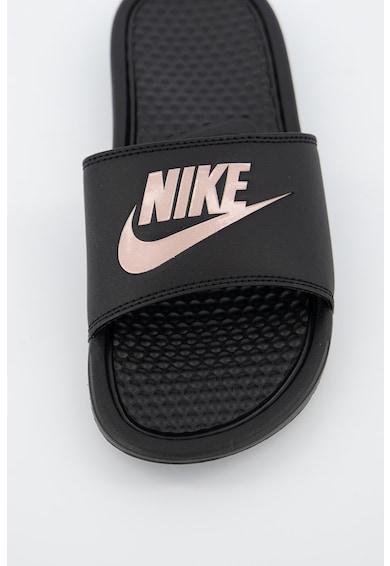 Nike Papuci din piele ecologica cu brant texturat Benassi JDI Femei