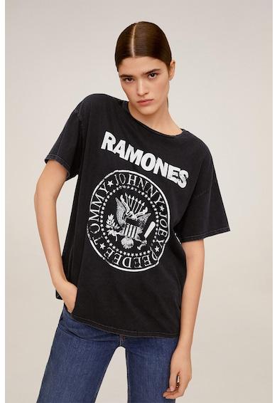 Mango Tricou de bumbac Ramones Femei