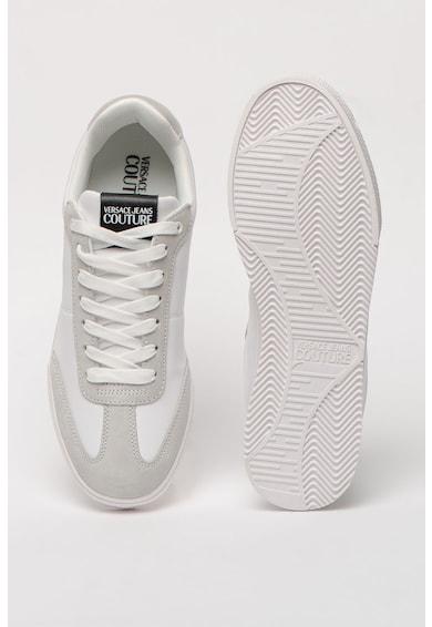 Versace Jeans Couture Pantofi sport de piele si piele intoarsa Open 70's Barbati