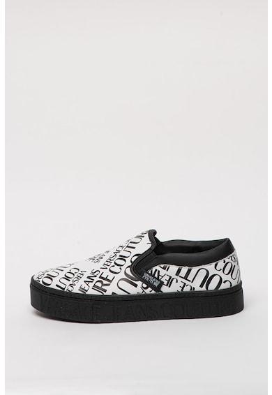 Versace Jeans Couture Pantofi slip-on flatform cu model logo Barbati