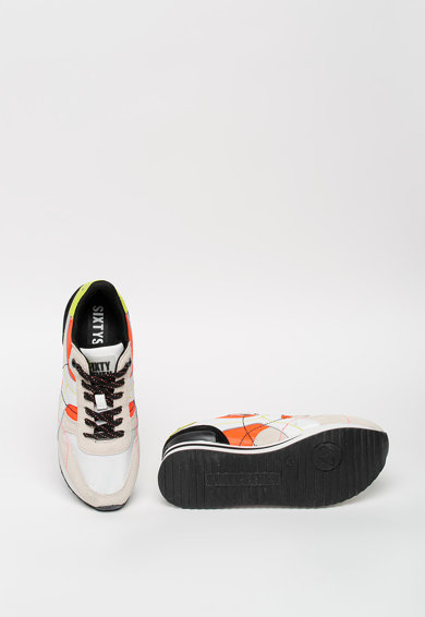 sixtyseven Pantofi sport de piele si material textil Femei