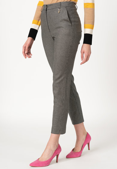 Pennyblack Pantaloni din amestec de lana cu model microhoundstooth Laterale Femei
