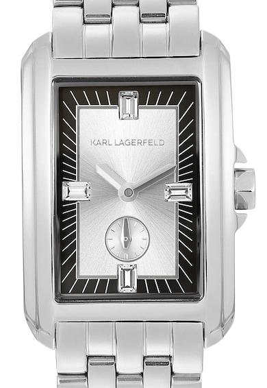 Karl Lagerfeld Ceas dreptunghiular cu bratara metalica Femei