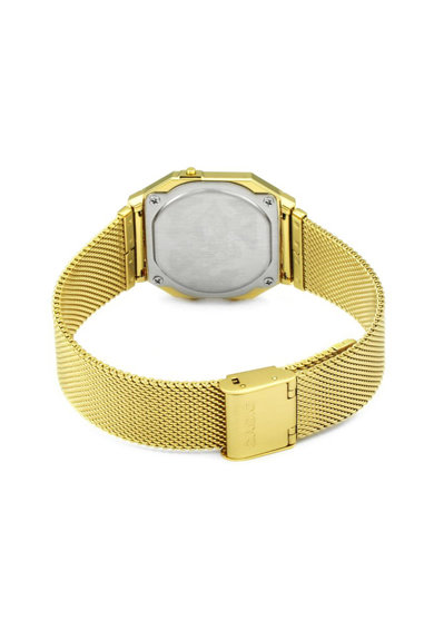 Casio Унисекс цифров часовник с иноксова верижка Жени