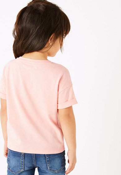 Marks & Spencer Тениска с двулицеви пайети Момичета