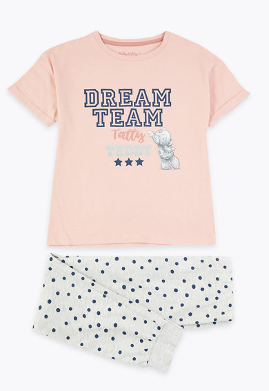 Marks & Spencer Десенирана пижама - 2 чифта Момичета