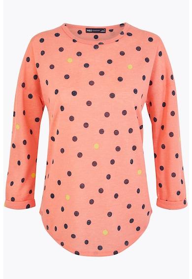 Marks & Spencer Блуза с лен на точки Жени
