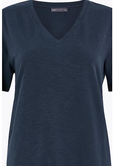 Marks & Spencer Памучна тениска с шпиц Жени
