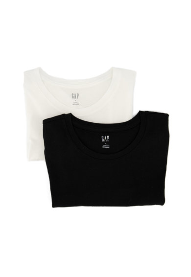 GAP Set de tricouri cu decolteu la baza gatului - 2 piese Femei