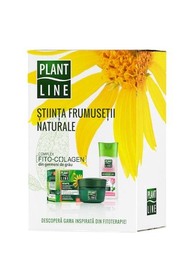 Plant Line Set ingrijire fata : Crema de zi antirid 45+, 45 ml + Crema de noapte antirid 45+, 45 ml + Apa micelara pentru toate tipurile de ten, 100 ml Femei