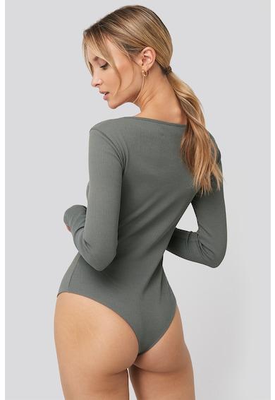 NA-KD Organikuspamut-tartalmú bordázott body női