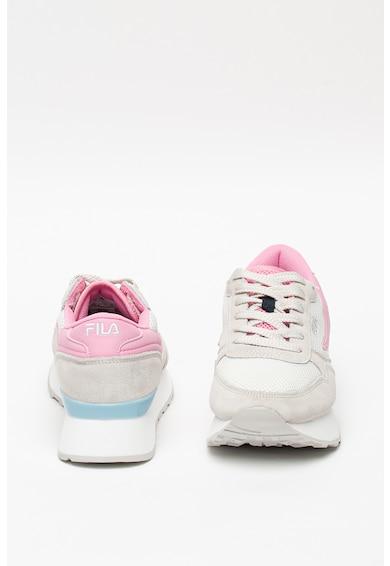 Fila Pantofi sport de piele intoarsa cu insertii de plasa Orbit Zeppa Femei