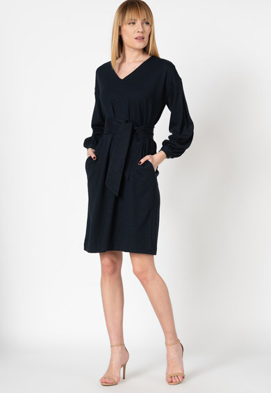 Stefanel Миди рокля с шпиц деколте и джобове Жени