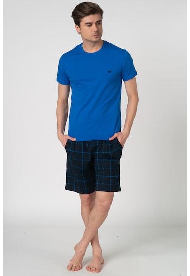 Emporio Armani Underwear Pijama cu model in carouri - 2 piese Barbati