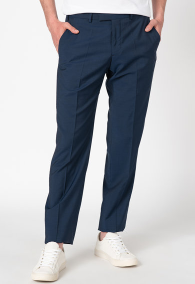 Emporio Armani Pantaloni eleganti din lana cu croiala conica Barbati