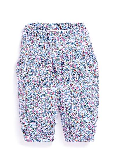 JoJo Maman Bebe Set 2 perechi de pantaloni de bumbac, fete, cu dungi si floricele, Multicolor Fete