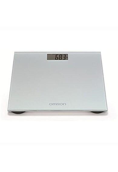 Omron Cantar super slim  , 180 kg, Sticla securizata, Display LCD, Gri Femei