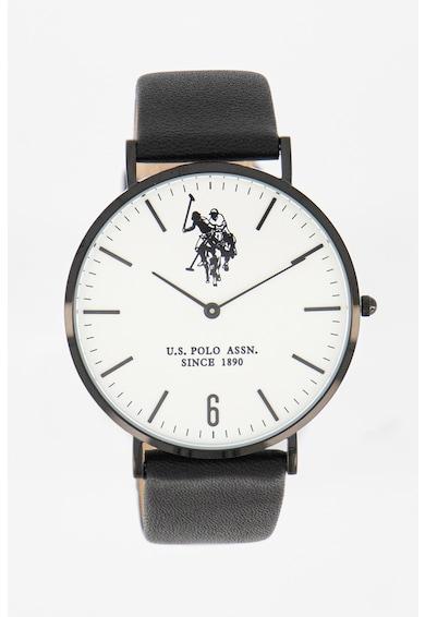 U.S. Polo Assn. Часовник с кожена каишка Мъже