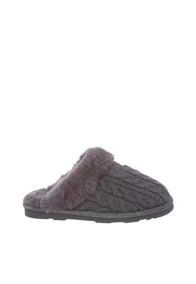 BEARPAW Papuci de casa gri cu interior imblanit Effie Femei