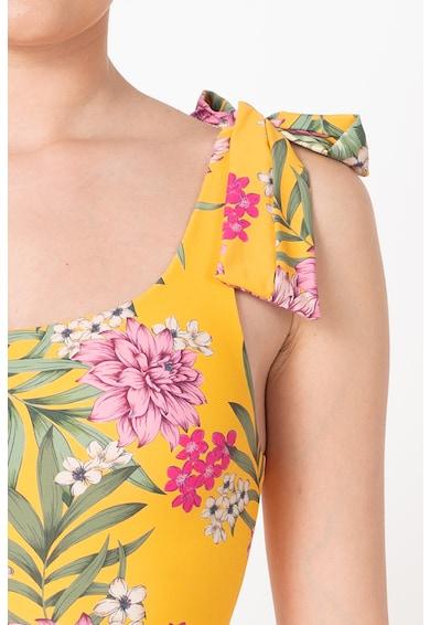 Guess Costum de baie cu decolteu pe un umar si model floral Femei