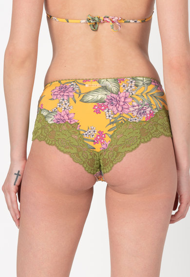 Guess Chiloti hipster cu model floral si detalii din dantela Femei