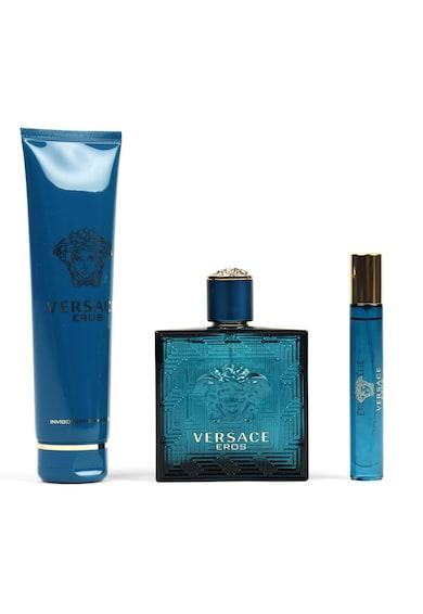 Versace Set  Eros, Barbati: Apa de Toaleta, 100 ml + Gel de dus, 150 ml + Apa de Toaleta, 10 ml Barbati
