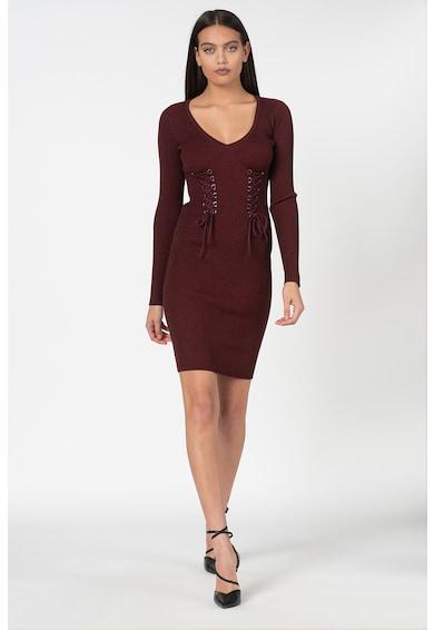 GUESS JEANS Плетена рокля с бляскави елементи Жени