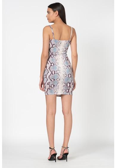 GUESS JEANS Прилепнала къса рокля с животинска шарка Жени