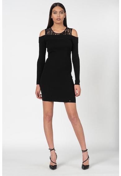GUESS JEANS Рипсена рокля тип пуловер с отвори на раменете Жени