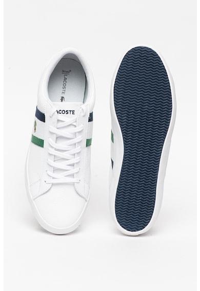 Lacoste Pantofi sport de piele si piele ecologica, cu garnituri cu model logo Lerond Barbati