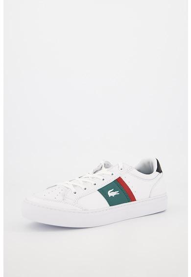 Lacoste Pantofi sport de piele si piele ecologica, cu garnituri contrastante Courtline Barbati
