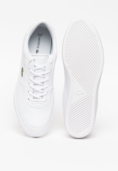 Lacoste Pantofi sport de piele si piele ecologica, cu model logo Court-Master Barbati
