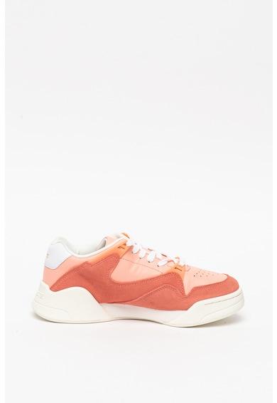 Lacoste Pantofi sport de piele si piele intoarsa, cu amortizare Court Slam 120 Femei