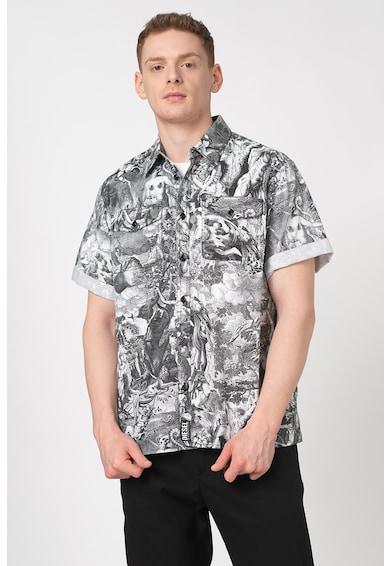 Diesel Десенирана риза Wed с къси ръкави Мъже