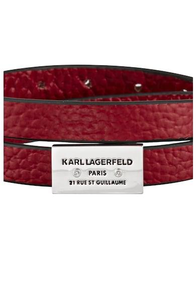 Karl Lagerfeld Bratara de piele cu logo Femei