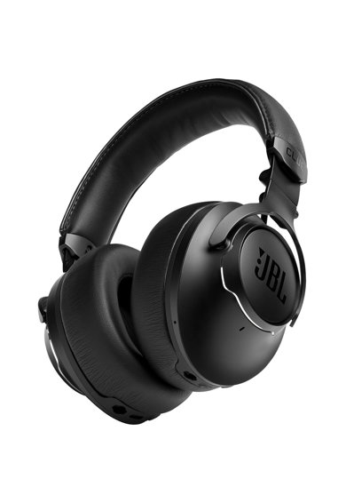 JBL Casti audio over-ear  Club One, Hi-Res, True Adaptive Noise Cancelling, Ambient Aware, TalkThru, 45H, Google Assistant & Alexa built-in, Negru Femei