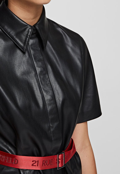 Karl Lagerfeld Рокля тип риза от еко кожа Жени