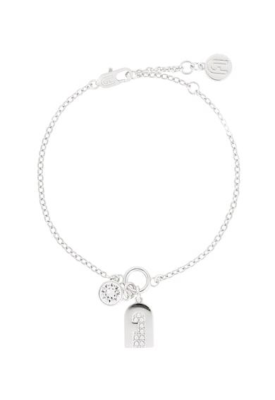 Furla Bratara cu talisman cu logo New Crystal Femei