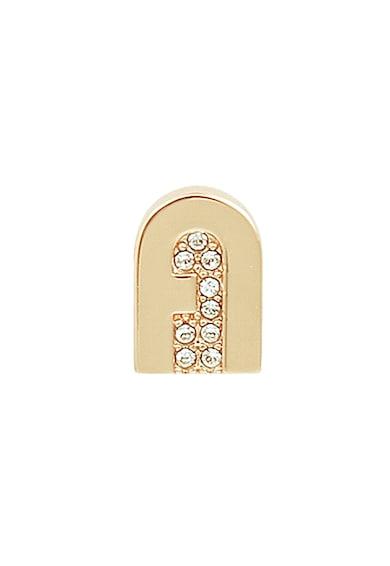 Furla Cercei in forma de logo, cu tija si decorati cu cristale Swarovski New Crystal Femei