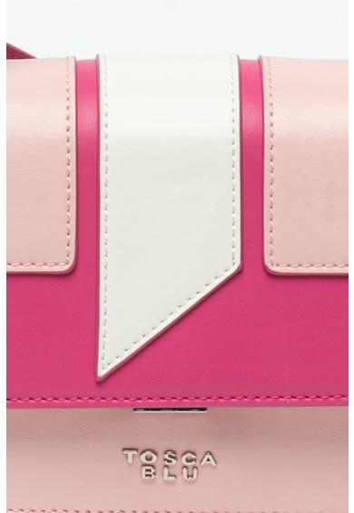 Tosca Blu Geanta crossbody din piele ecologica cu aplicatie logo metalica Mughetto Femei