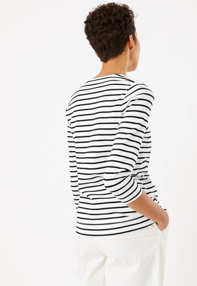 Marks & Spencer Bluza cu decolteu in V si imprimeu in dungi Femei