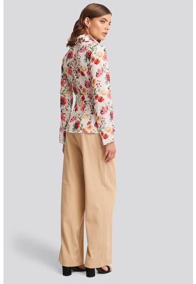 NA-KD Bluza cu model floral si cordon in talie Femei